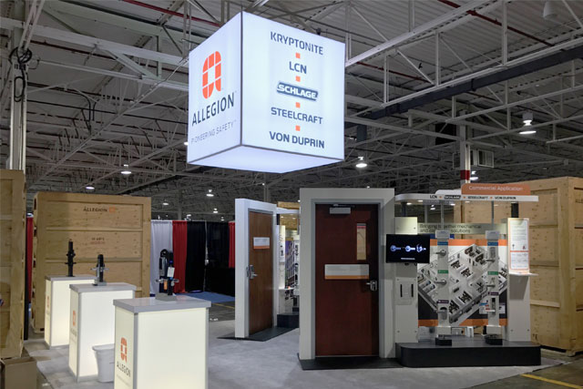Hunter Exposition - Allegion Booth and Kiosks