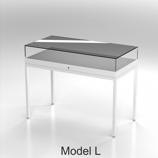 Table Display Cases - model L