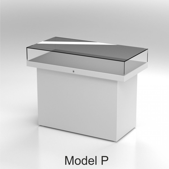 Table Display Cases - model P